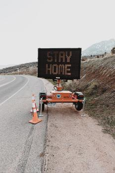 Social Distancing - Stay Home Sign