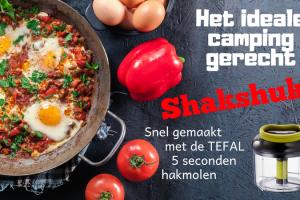Shakshuka gemaakt met de TEFEL 5 seconden hakmolen