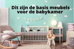 Dit zijn de basis meubel voor de babykamer