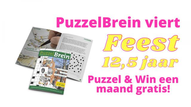Puzzel & Win deze maand gratis ter ere van 12,5 jaar Puzzelbrein