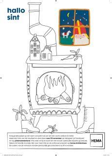 HEMA Sintwedstrijd kleurplaat