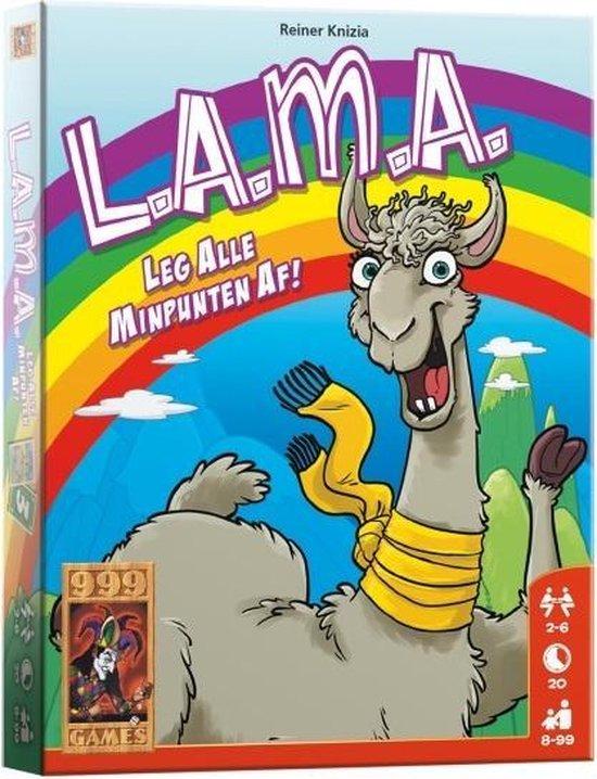 Winnaar Speelgoed van het Jaar 2020 Catagorie 8 & 9 jaar - LAMA (999 Games)