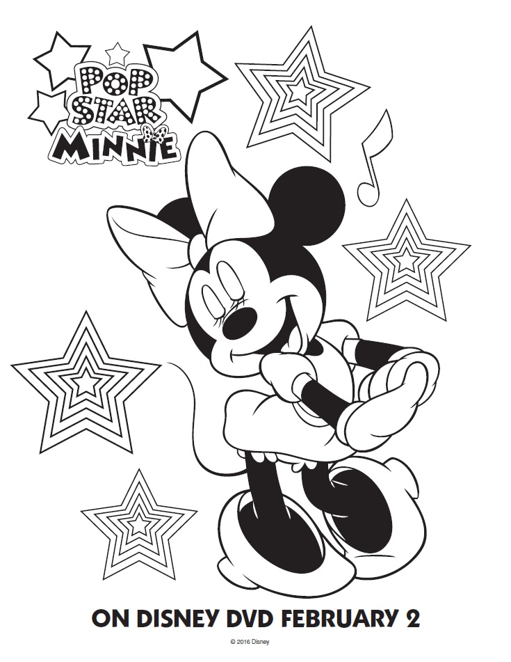 pop star minnie mouse mickey mouse coloring page mickey mouse is