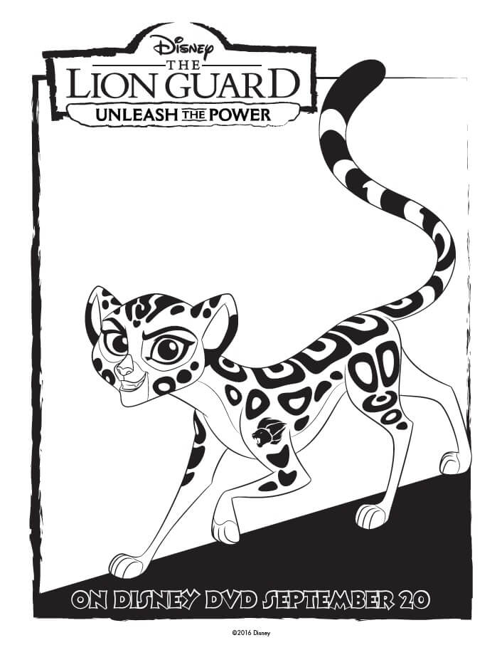 the lion guard coloring pages unleash the power