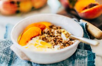 Peach Yogurt Granola
