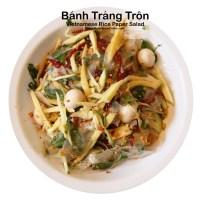 Vietnamese Rice Paper Salad Recipe - Banh Trang Tron