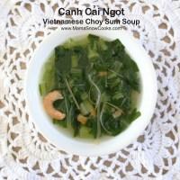 Vietnamese Choy Sum Soup - Canh Cai Ngot