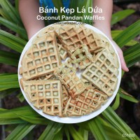 Coconut Pandan Waffles - Banh Kep La Dua
