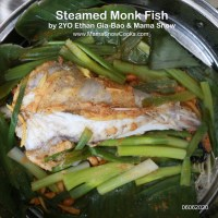 Steamed Monk Fish