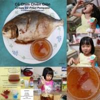 Crispy Air-Fried Pompano - Cá Chim Chiên Giòn