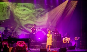 Camilla and band on stage at the Cork Everyman