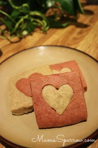Red Beet Shortbread Cookies