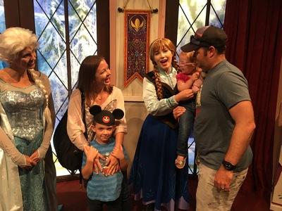 Anna and Elsa at Disneyland