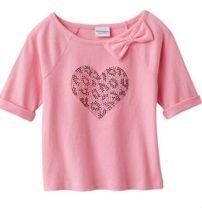 Camiseta rosada para niñas - Kohls- 9 dólares