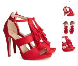 Zapatos rojos - 50 dólares en H&M