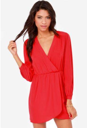 Vestido rojo - 48 dólares en lulus.com