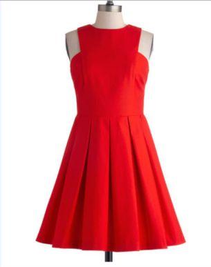 Vestido rojo - 50 dólares en Modcloth.com