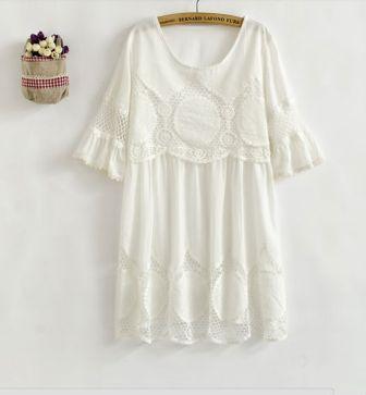 Vestido blanco Vintage de Aliexpress. 18 dólares