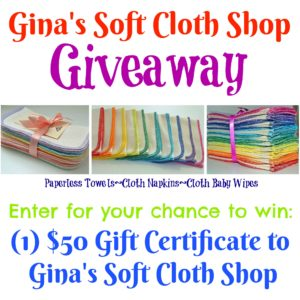 Gina's Soft Cloth Shop Giveaway