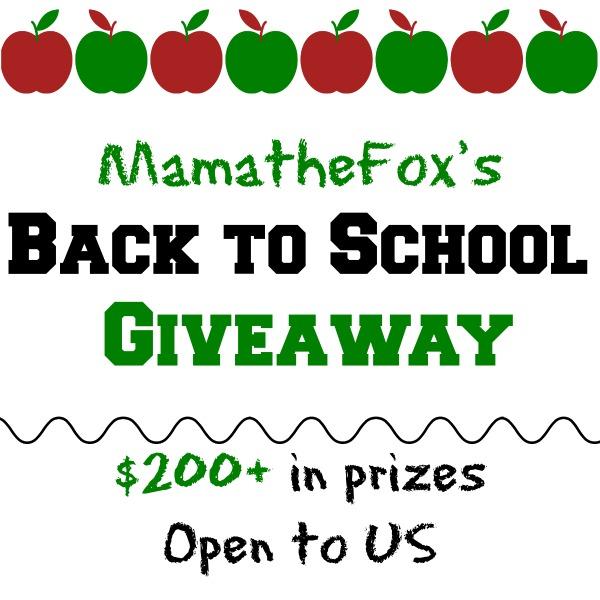 MamatheFoxs Back to School Giveaway! ~ Ends 9/1 @MamatheFox