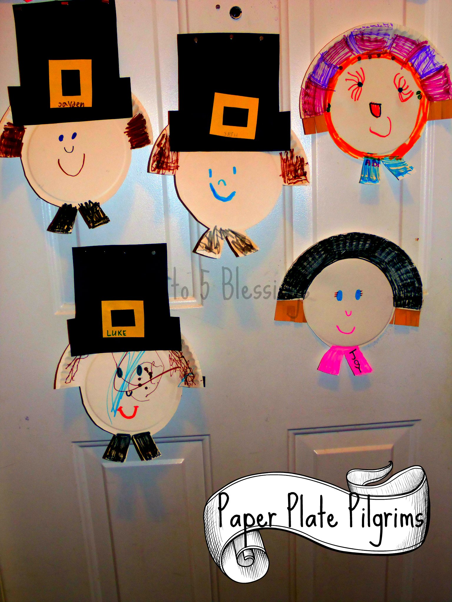 Paper Plate Pilgrim Craft Learn Amp Link With Linky