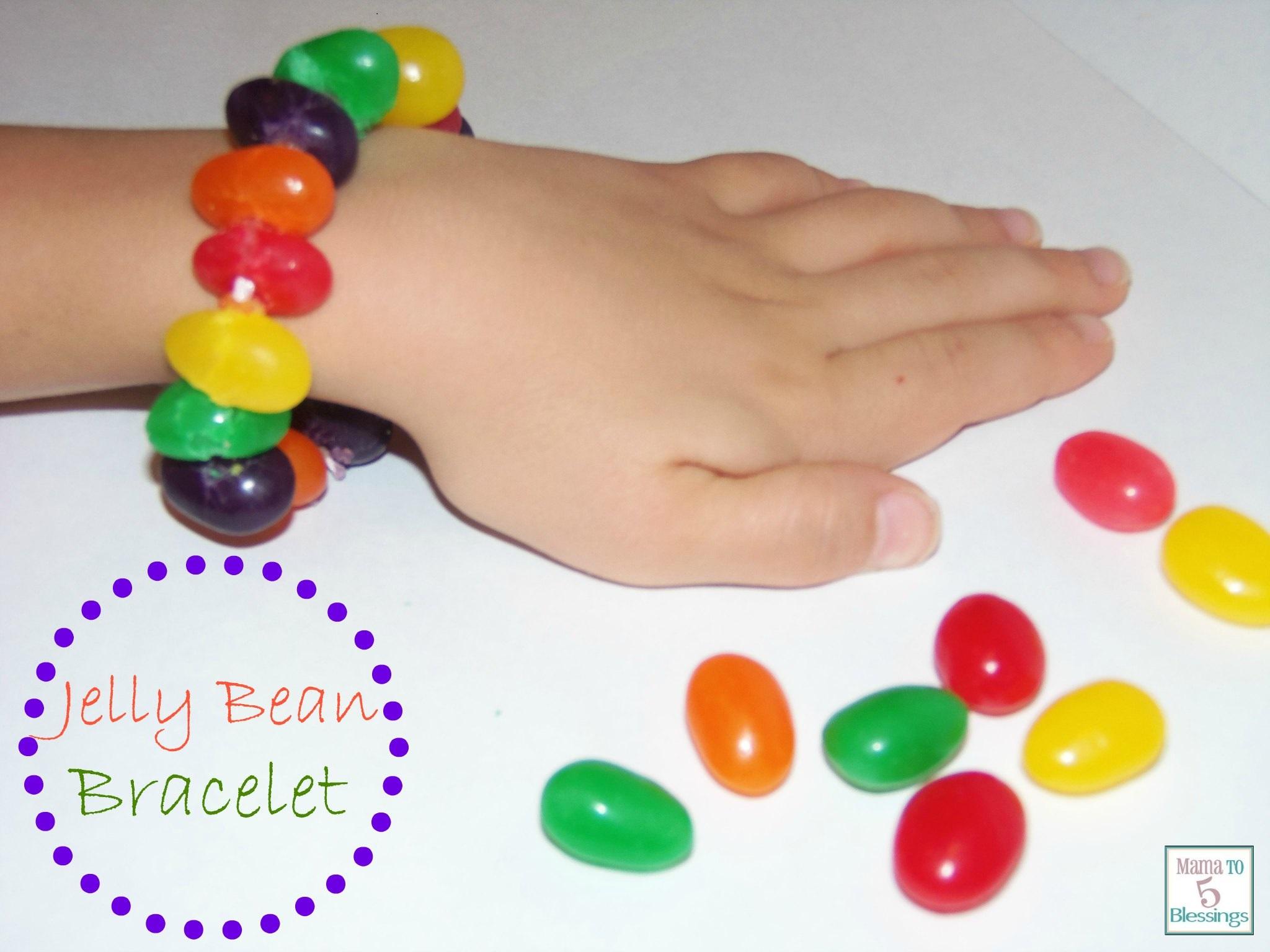 Diy Jelly Bean Bracelet Candy Easter Kids