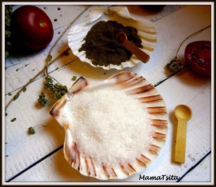 κοχύλια αλάτι - πιπέρι