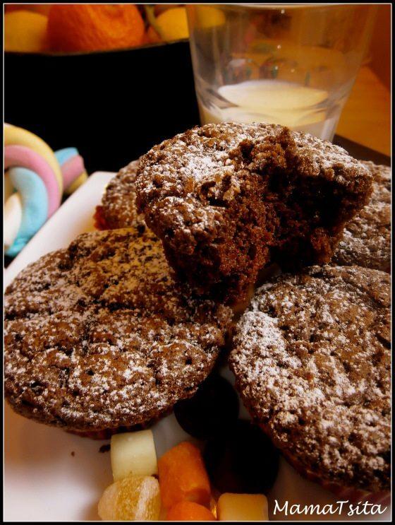 cupcakes σοκολάτα παντζάρι