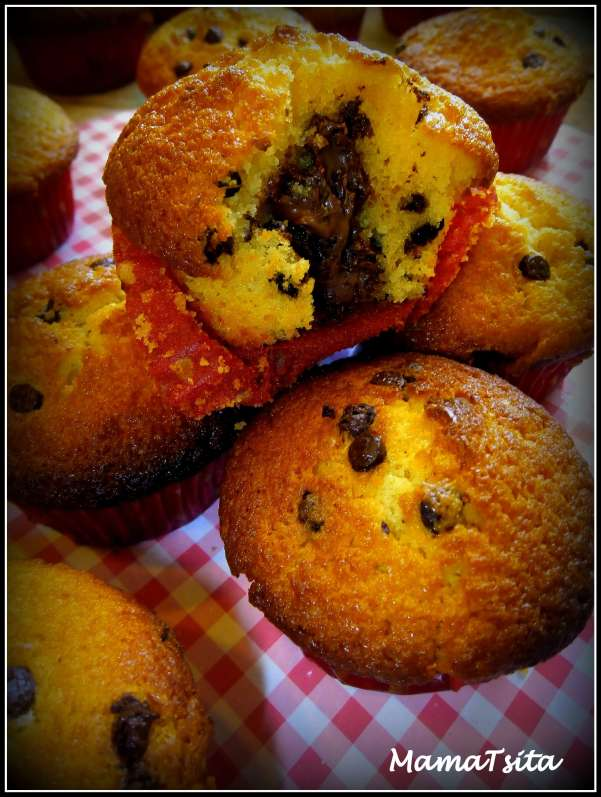βανίλια cupcakes nutella