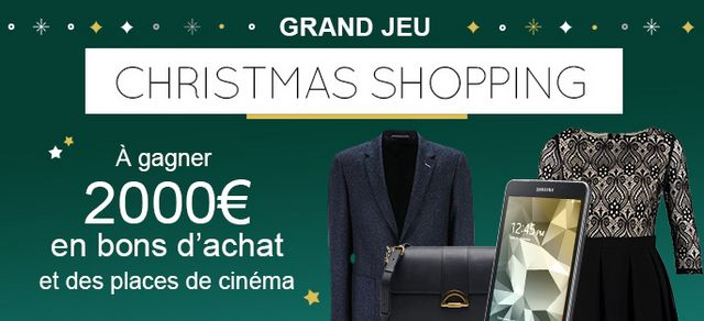 Participez au Grand Jeu Christmas Shopping organisé par iGraal