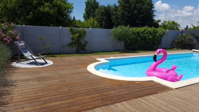 terrasse autour piscine