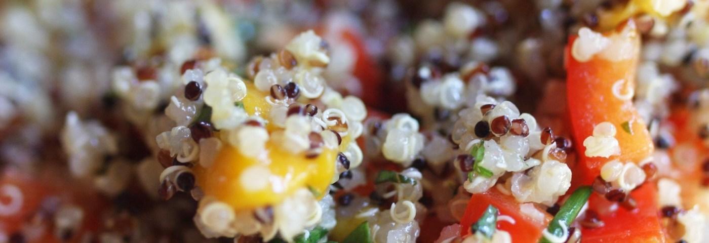 mango herb quinoa salad