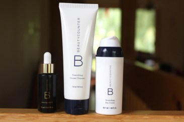 balancing face oil, hydrating body lotion and nourishing day cream