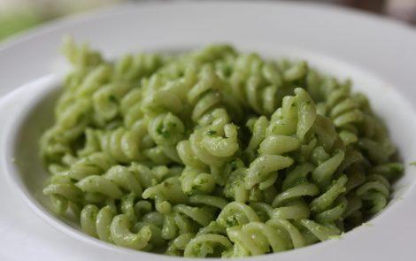 wild leek pesto pasta