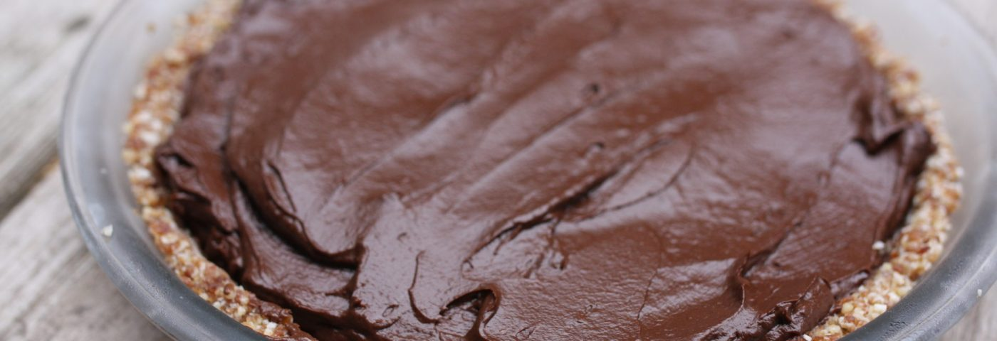 raw flourless chocolate tart