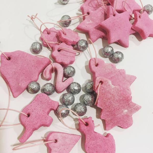 adornos navideños de pasta de sal
