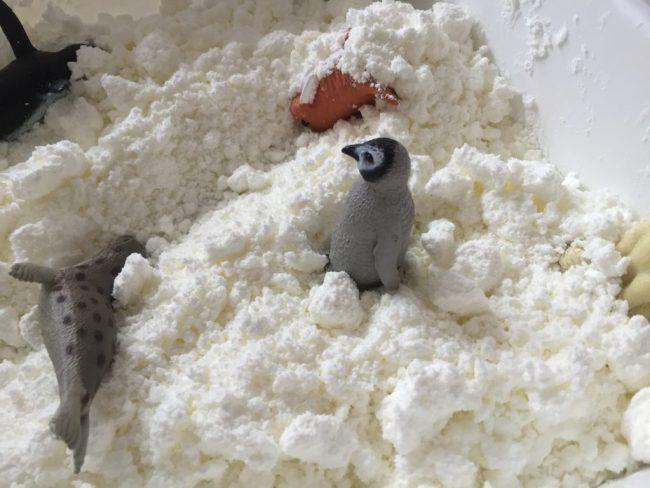 Nieve Casera de maiz y espuma