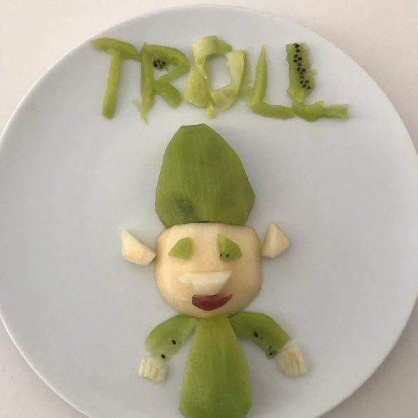 Troll de kiwi y manzana