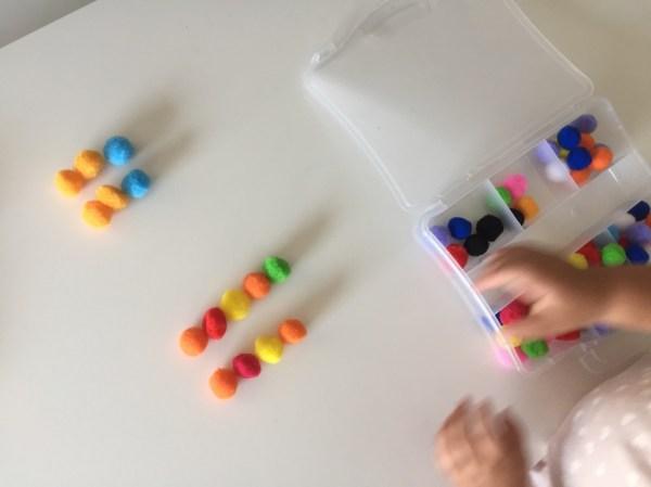 Seriación matemática y pensamiento lógico con colores