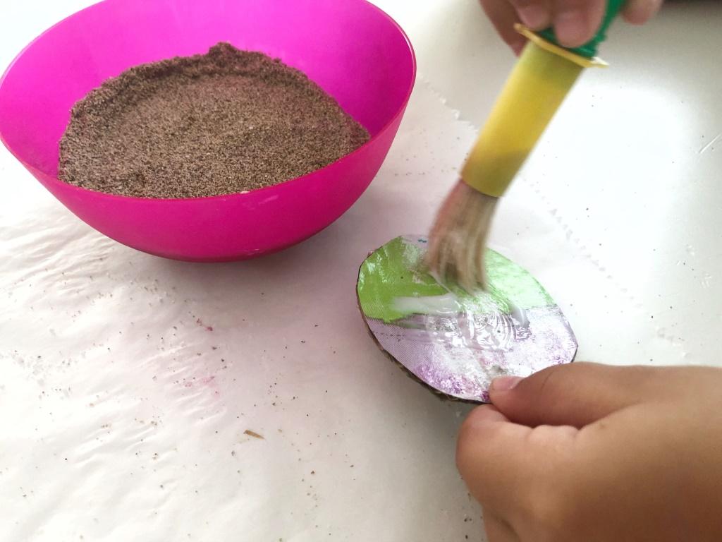decorar con arena de playa