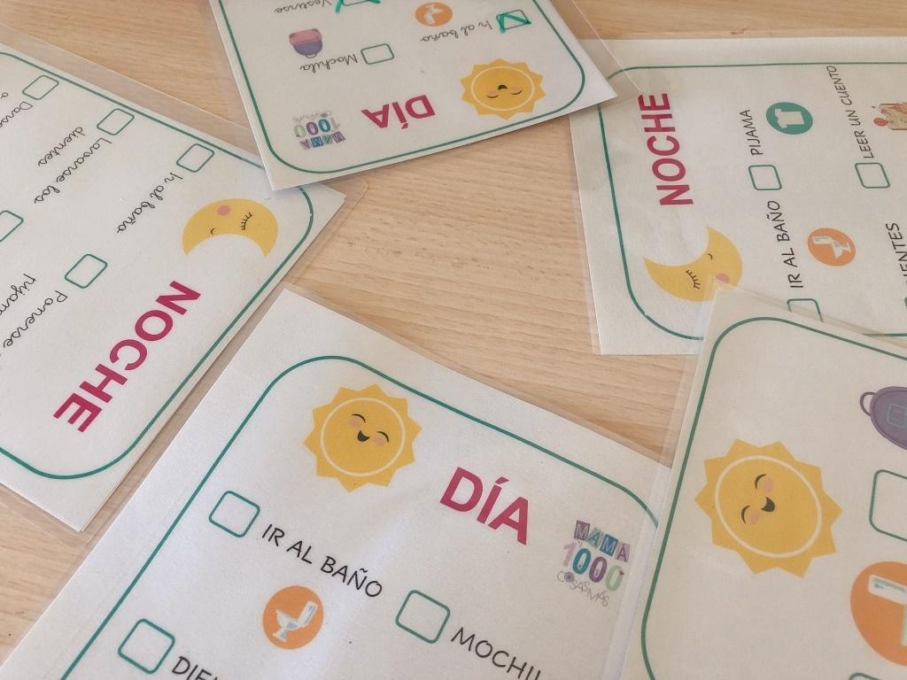 descargable rutinas diarias infantiles con simbolos