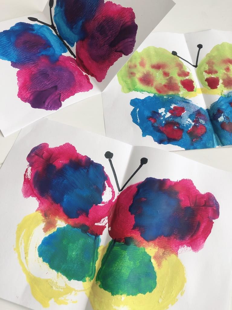 formas de pintar una mariposa