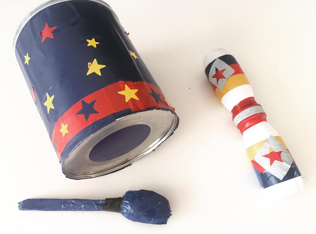 ideas para hacer instrumentos caseros con materiales reciclados