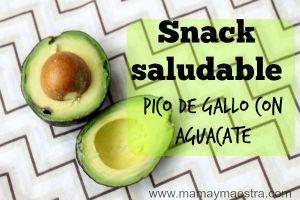 Snack saludable: Pico de gallo con aguacate