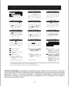 Calendarios ciclo escolar 2018- 2019 | 185, 195 y 200 días.