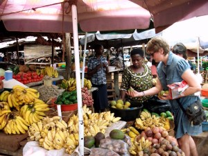 Buying lunch at the market in Hoima