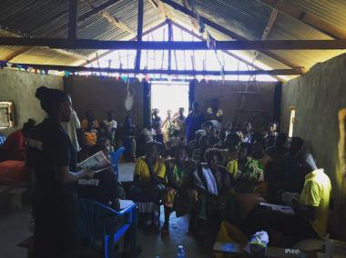 Health talks are provided before each Outreach Clinic to gain ethics and consent of testing and awareness of keeping well and safe in pregnancy as well as covering topics like malaria prevention and domestic violence
