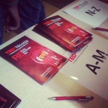 Registration booth at #TEDxNicosia