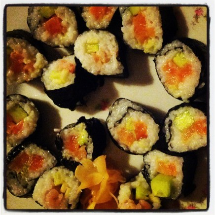 My first ever homemade sushi