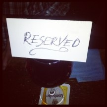 Reserved wine